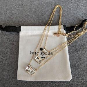 ♠️ Kate Spade 3 strand gem necklace *NEW